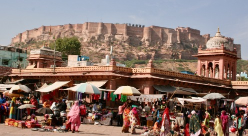 The mighty Mehrangarh Fort, Jodhpur