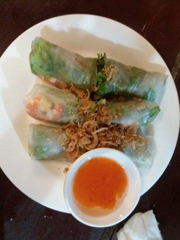 Goi Cuon tom thit (fresh spring rolls)